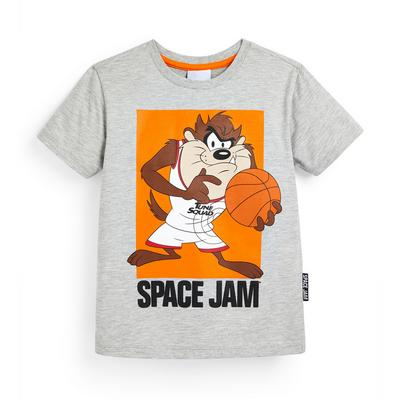 Younger Boy Gray Space Jam Taz T-Shirt