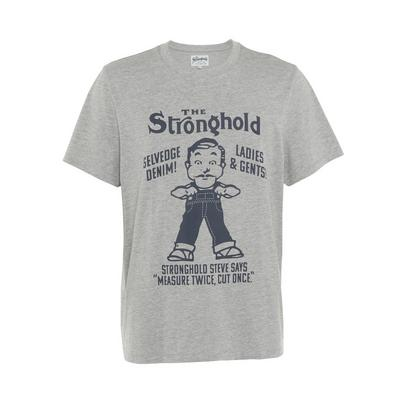 Grey Stronghold Print T-Shirt