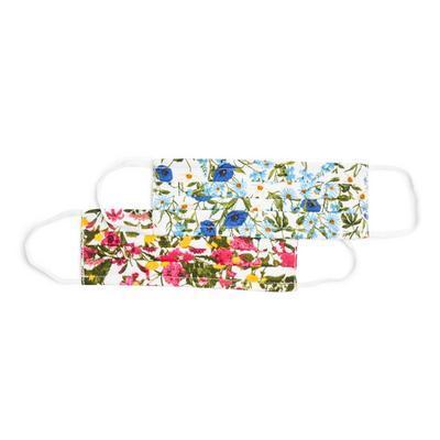 Pack 2 máscaras sociais tecido Gardeners World padrão floral