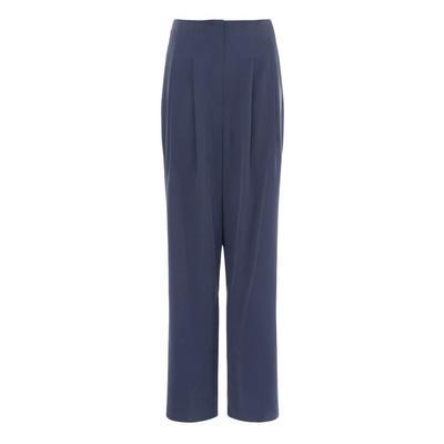 Mornarsko modre ohlapne hlače s širokimi hlačnicami