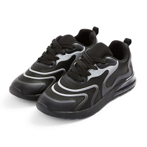 Zapatillas deportivas negras con ondas para niño mayor
