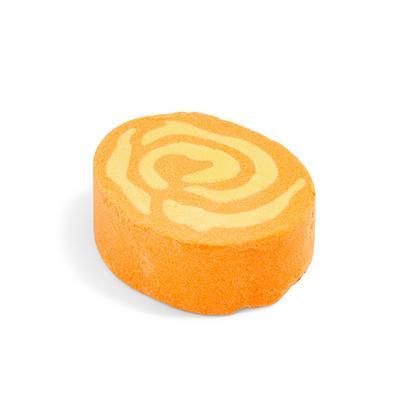 Bomba de baño con diseño de fuego naranja de PS
