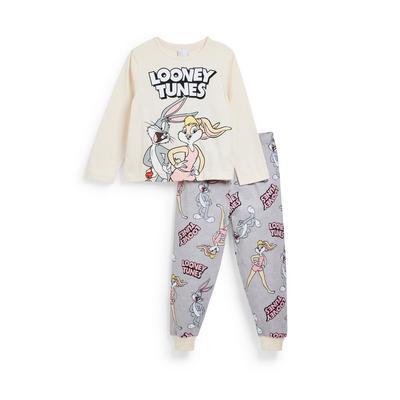 Younger Girl Looney Tunes Print Pyjamas