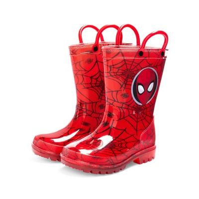 Younger Boy Red Marvel Spider-Man Rain Boots