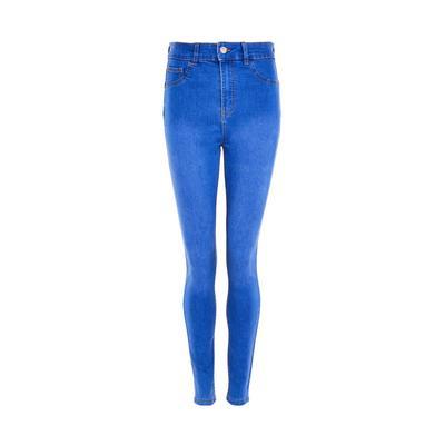 Jean skinny bleu moyen sculptant en denim