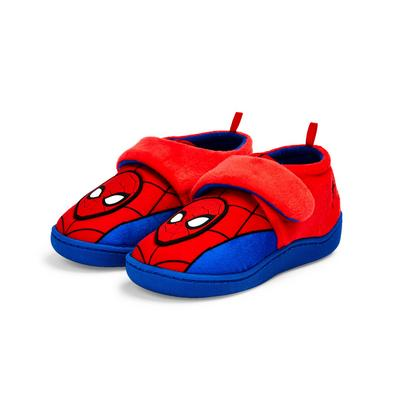Younger Boy Red Marvel Spider-Man Cupsole Slippers