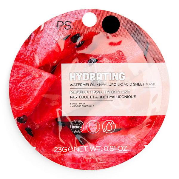 Sheetmasker voor gezicht PS Hydrating Watermelon Hyaluronic