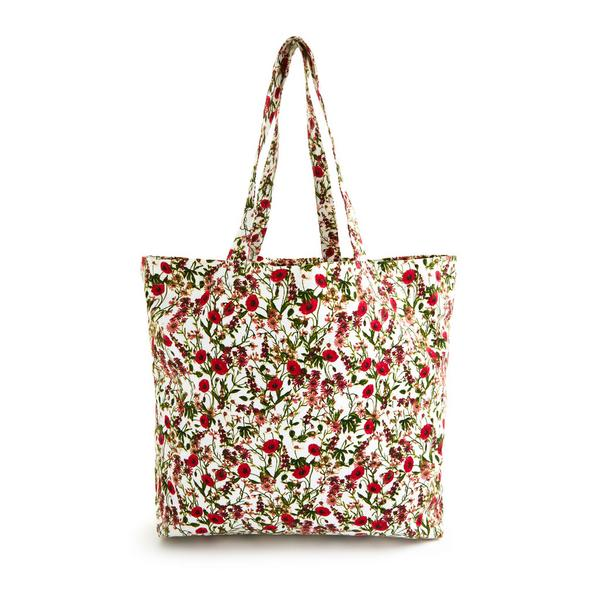 Borsa tote rossa in tela con stampa floreale Gardeners World