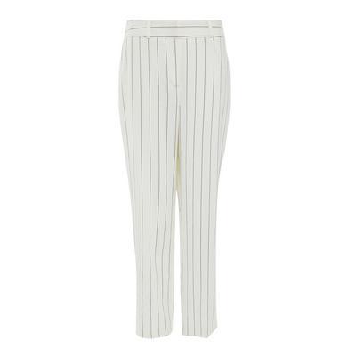 Bele oprijete hlače s tankimi črtami