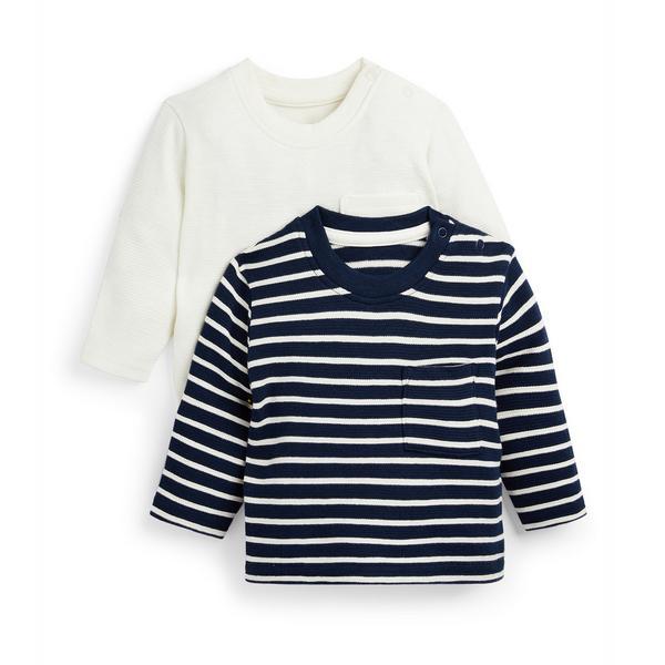 Baby Boy Striped Longsleeve T-Shirts 2 Pack