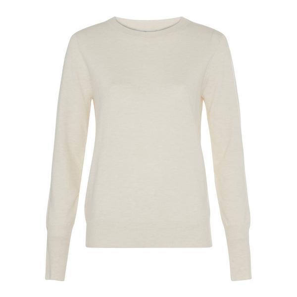 Ivory Soft Crew Neck Sweater