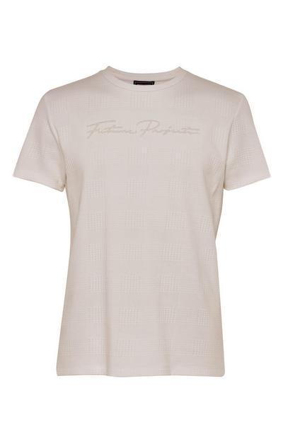 T-shirt tortora Kem jacquard