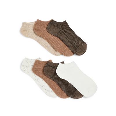 Oatmeal Ankle Socks 7 Pack