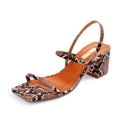 Black Low Block Heel Sandals