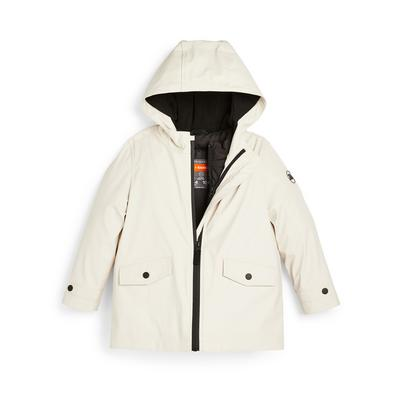Younger Girl Faux Leather 3-In-1 Rain Coat