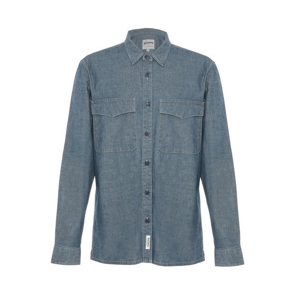 Camisa vaquera azul de estilo informal Stronghold