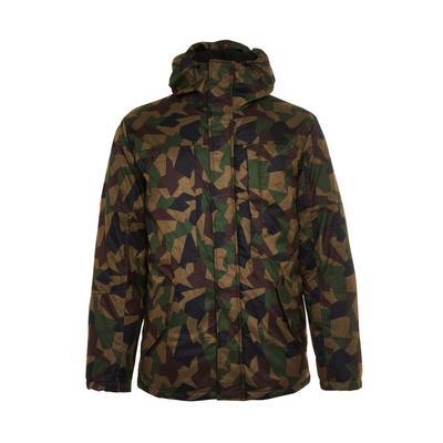 Khaki Camouflage Parka Jacket