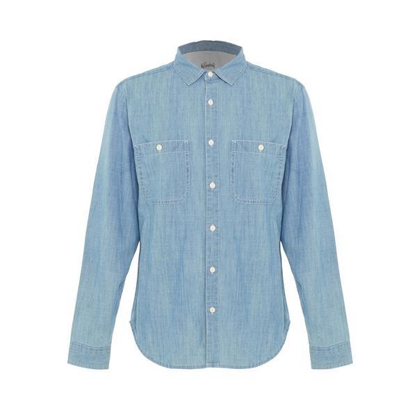 Lichtblauw chambray Stronghold-werkoverhemd
