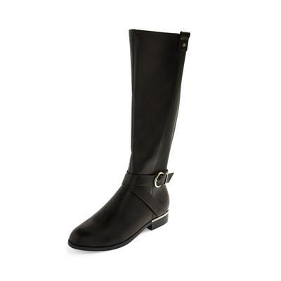 Visoki črni jahalni čevlji do kolena