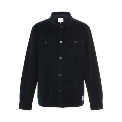 Veste-chemise noire en velours côtelé Stronghold
