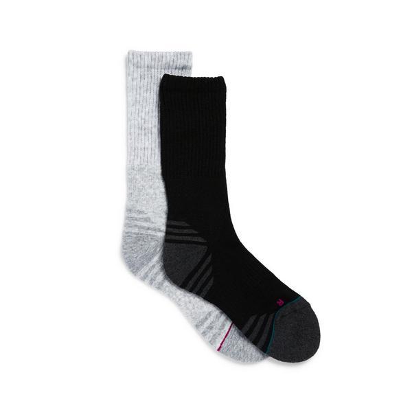 Lot de 2 paires de chaussettes de randonnée de couleurs variées