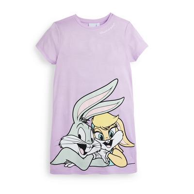 Camicia da notte lilla Looney Tunes da ragazza