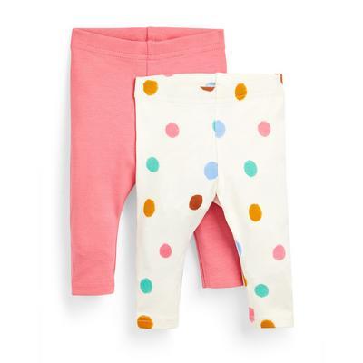Baby Girl Multicolour Ankle Leggings 2 Pack