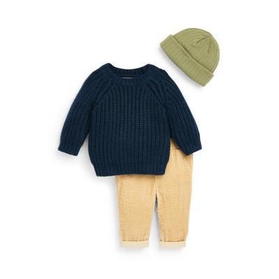 3-Piece Baby Boy Corduroy Leggings Leisure Set