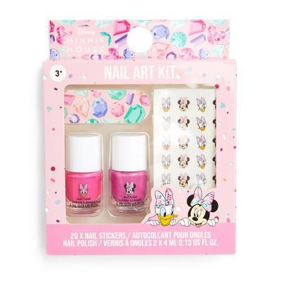 Kit per nail art rosa Minnie Disney