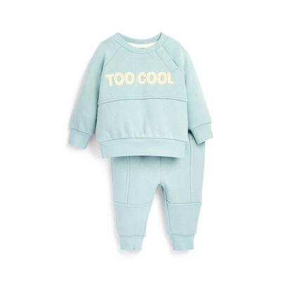 Baby Boy Blue Cool Dude Leisure Set