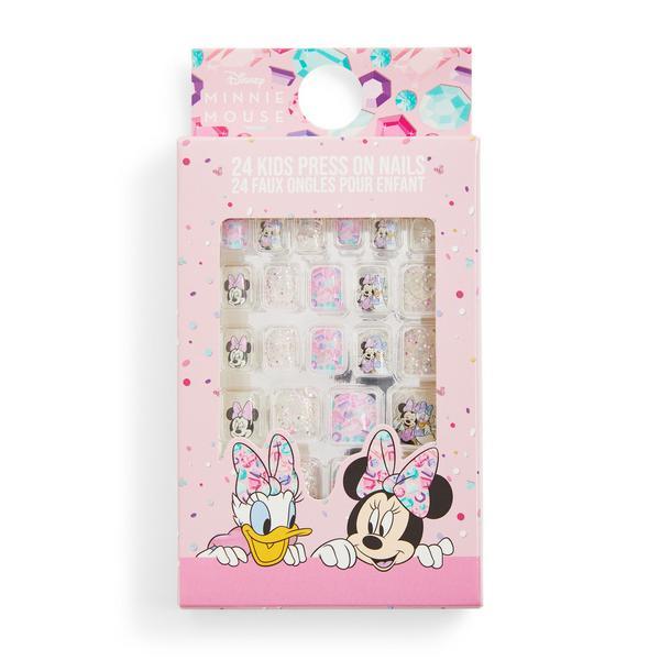 Unhas pré-coladas Disney Minnie Mouse criança