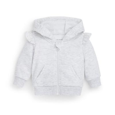 Baby Girl Grey Zip Through Hoodie