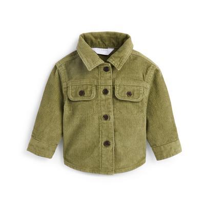Baby Boy Khaki Corduroy Shirt