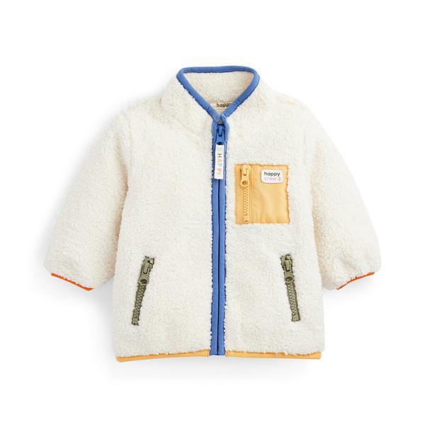 Stacey Solomon Baby Boy Fleece Lined Zip Up Jacket