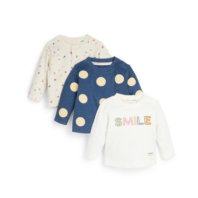 Stacey Solomon Baby Boy Longsleeve T-Shirts 3 Pack