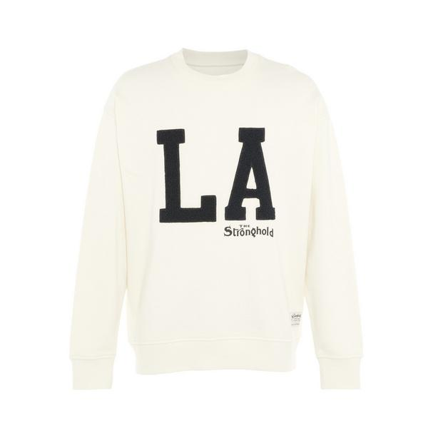 Ivory Contrast Ribbed Stronghold Crew Neck Sweater