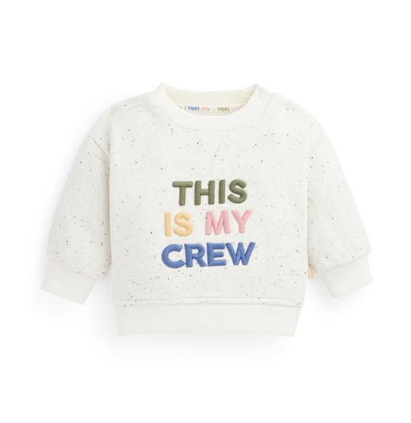 Stacey Solomon Baby Boy Ivory Crew Neck Sweater