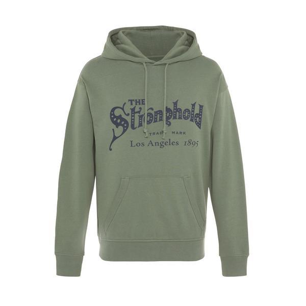 Sudadera con capucha verde y logotipo Stronghold