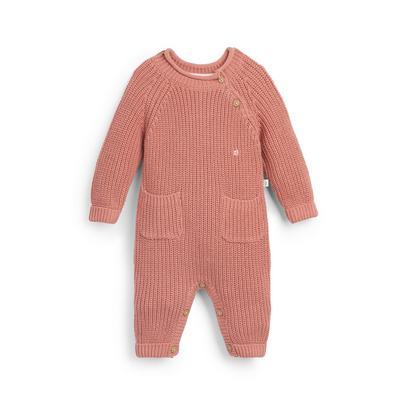 Stacey Solomon Baby Girl Pink Knit Onesie