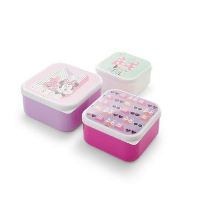 Lot de 3 boîtes à goûter roses Disney Minnie Mouse