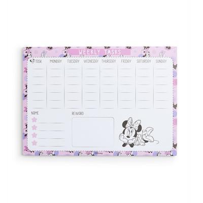 Pink Disney Minnie Mouse Weekly Tasks Memo Pad