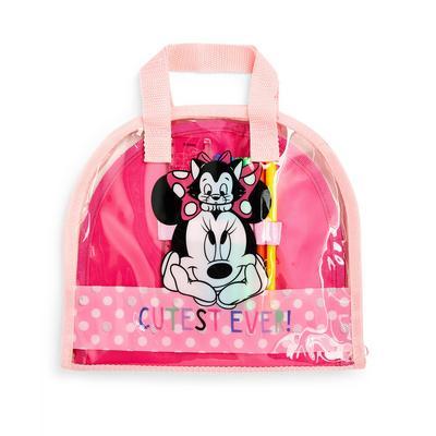 Grote roze bureauspullenset Disney Minnie Mouse