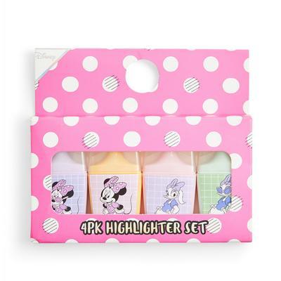 Pack 4 marcadores Disney Minnie Mouse cor-de-rosa