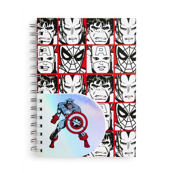 Libreta de espiral A5 con diseño de cómic de Marvel
