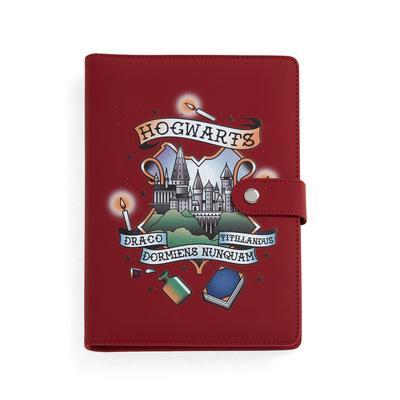 Diário bolso Harry Potter vermelho