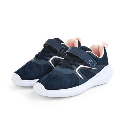 Younger Girl Navy Phylon Trainers