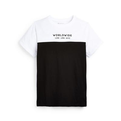 T-shirt monochrome color block ado