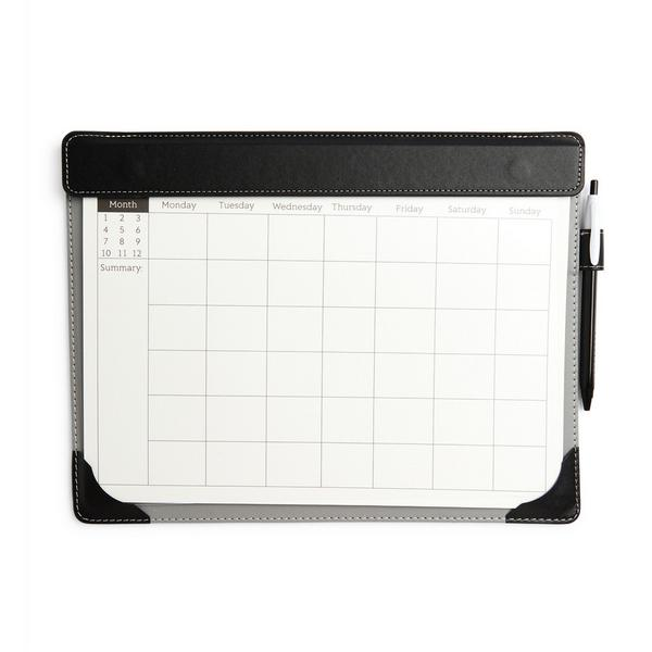 Bloc-notes noir Weekly Desk Planner