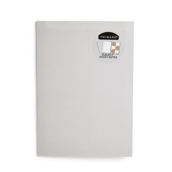 Dossier gris avec adhésifs