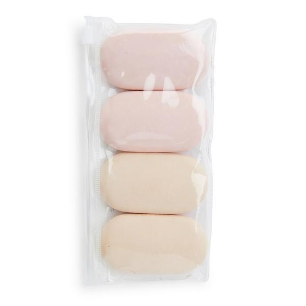 Rosafarbene Radiergummis, 4er-Pack